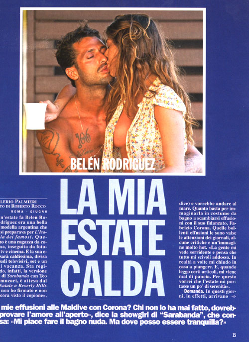 """Paparazzi/ Belen Rodriguez rivela: """"Mi piace l'uomo un po' dannato"""" -  Affaritaliani.it"""
