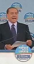 Berlusconi palco Pdl