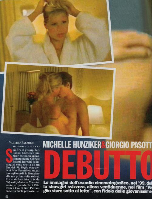 video Michelle Hunziker Voglio mirada sotto il letto