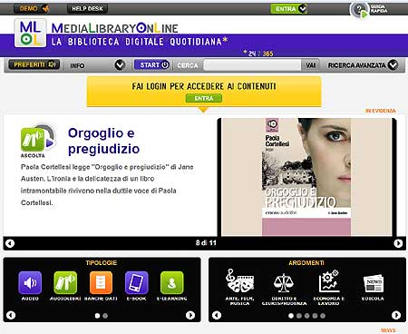 biblioteche digitali, prestito digitale, MediaLibraryOnLine