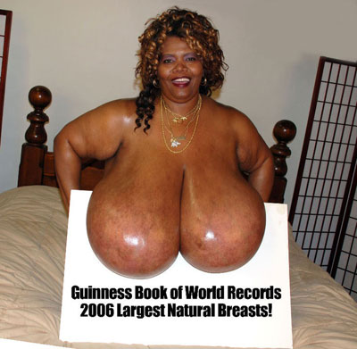 Norma Stitz world largest natural breasts guinness record