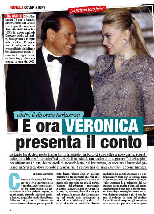 Veronica Lario novella 1