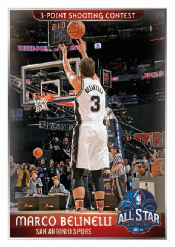 Panini NBA Marco Belinelli   All Star Game 3Points 2014 15