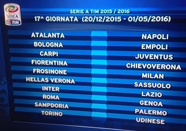 Calendario Serie A Inter Milan.Calendario Serie A Inter Milan Alla 3 Inter Juve All 8 E
