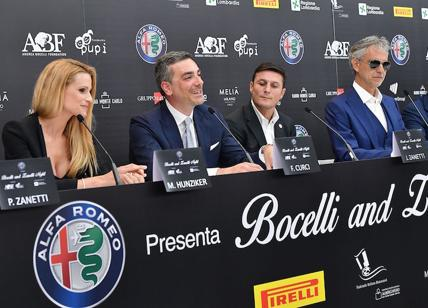 "Giulia accompagna i protagonisti della ""Bocelli and Zanetti Night"""