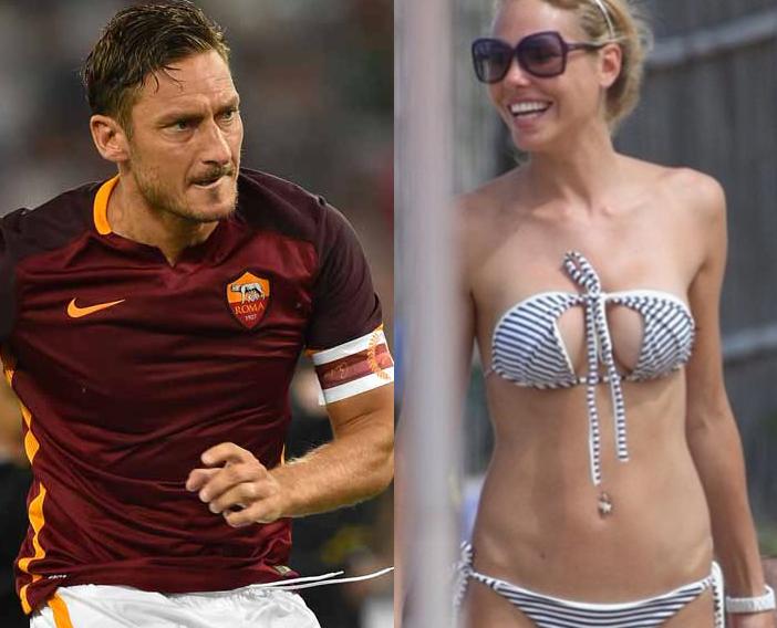 """Roma, Ilary Blasi conferma Totti: """"Vuole giocare ancora"""""""