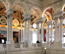 Library of Congress a Washington D.C, la biblioteca nazionale degli Stati Uniti