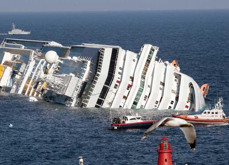 Concordia naufragò davanti all'Isola del Giglio il 13 gennaio del 2012 causando 32 morti