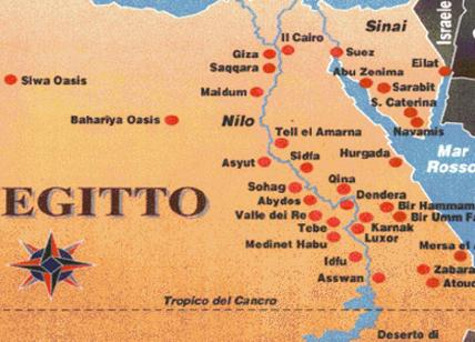 Cartina Del Egitto.Il Viaggio Del Nilo