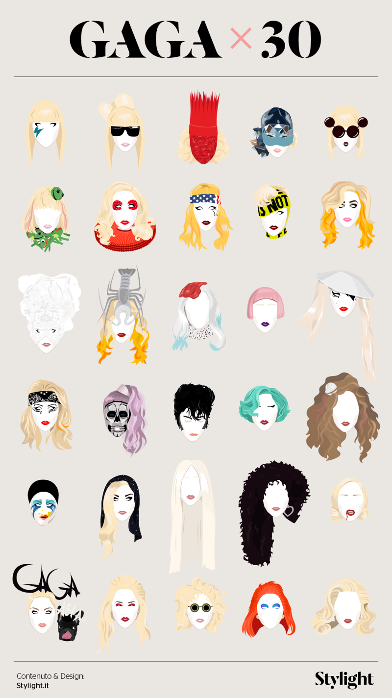 Lady Gaga 30 anni in 30 look Lady Gaga Stylight