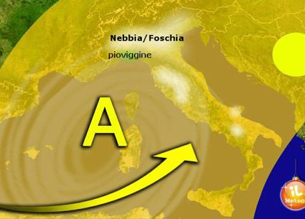 Previsioni meteo, weekend col bel tempo. Nebbia e temperature in rialzo