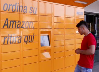 Amazon: lancia Locker per ritiro self service in 43 citta' italiane