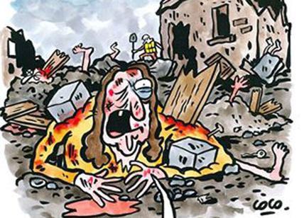 Charlie Hebdo, vignetta sul Terremoto in Centro Italia