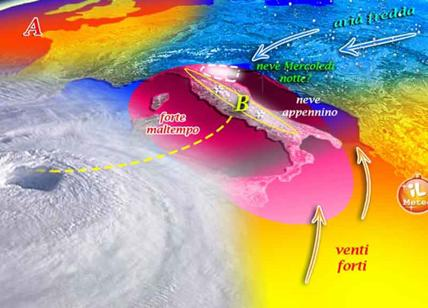 Meteo, sta per arrivare il ciclone di Natale da lunedì è inverno