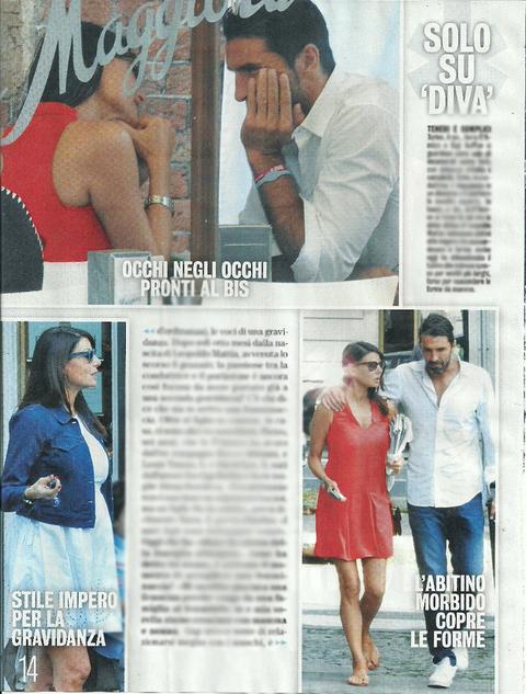 """Ilaria D'Amico: le foto col """"pancino"""" mentre passeggia con Gigi Buffon. I gossip sulla gravidanza (non confermata) della conduttrice"""