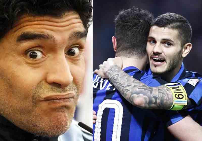 Maradona gela Icardi, mentre sull'infortunio di Milik spiega che...
