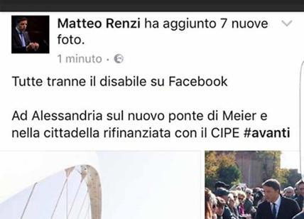 Niente foto del disabile, gaffe dello staff di Renzi su Facebook