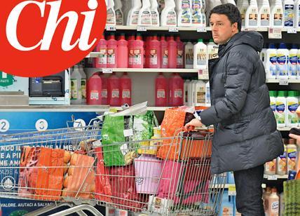Renzi fa la spesa al supermercato di Pontassieve