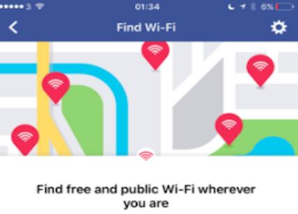 Facebook aiuterà a trovare WiFi pubbliche