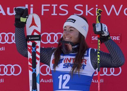 Sci, Cdm: quinto podio per Sofia Goggia che chiude terza in combinata