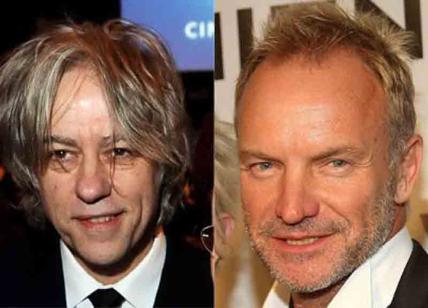 Sting e Bob Geldolf a Firenze alla Galleria dell'Accademia