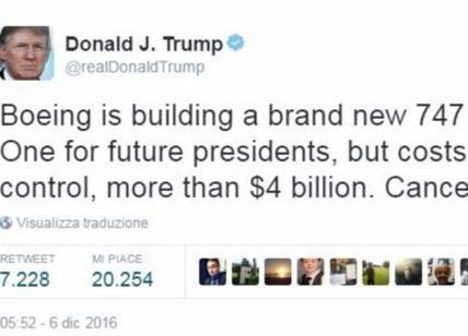 Air Force One, tutte le tensioni fra Donald Trump e Boeing
