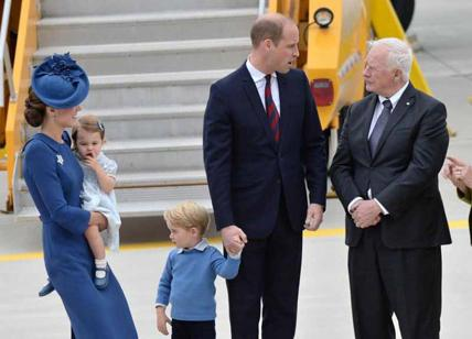 Kate Middleton, Charlotte e George mascotte in Canada
