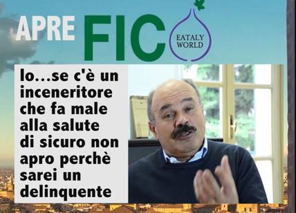 """Farinetti, video choc: """"Sarei un delinquente...""""FICO Eataly sotto inceneritore"""