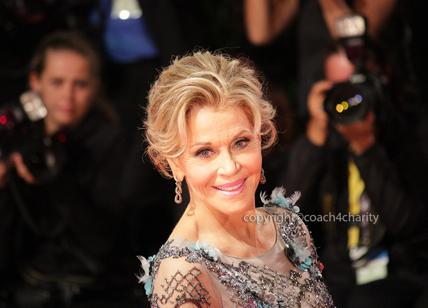 JANE FONDA at the Venice Film Festival for 'Our souls in the night'