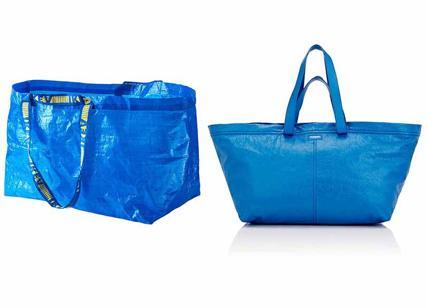 Balenciaga copia la borsa azzurra di Ikea costerà 1.700 euro. Ironia social