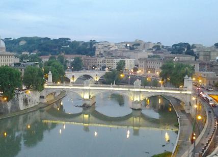 Roma, sul Lungotevere ramo di platano cade su auto: un ferito
