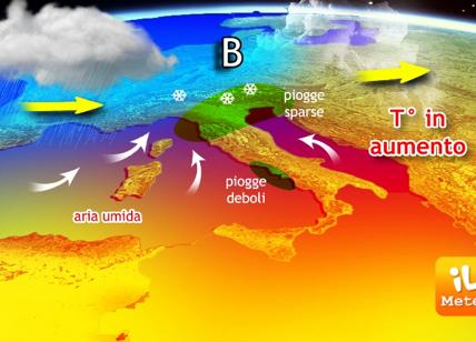 Meteo: cambia il tempo, in arrivo pioggia e neve