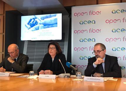 Acea e Open Fiber investono 375 milioni per la fibra a Roma