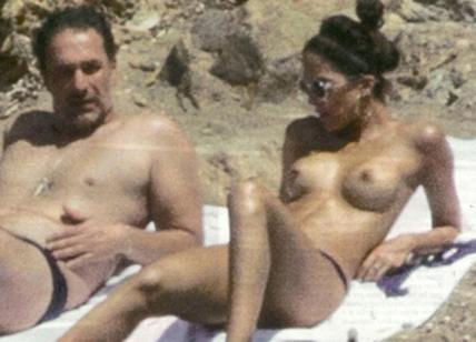 Raoul Bova e Rocio Morales vacanze hot: topless a Ibiza. LE FOTO