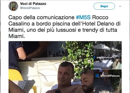 """M5s, Rocco Casalino pizzicato a Miami in un """"francescano"""" hotel di lusso FOTO"""