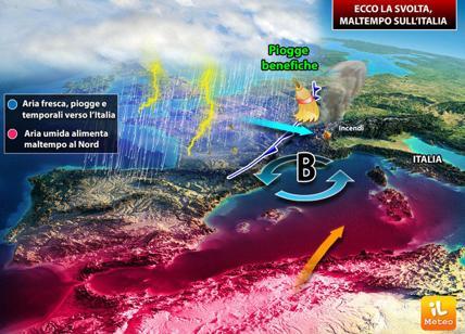 Meteo weekend: peggioramento in arrivo sull' Italia specie nella giornata di Domenica
