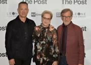 The Post, foto della premier con Meryl Streep, Tom Hanks e Steven Spielberg