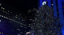 New York, illuminato l'albero di Natale del Rockfeller Center