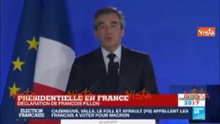 Elezioni Francia, Fillon: no all' estremismo, votate al ballottaggio Macron