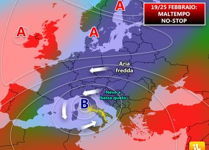 Meteo: aria fredda e fiocchi di neve anche a quote basse