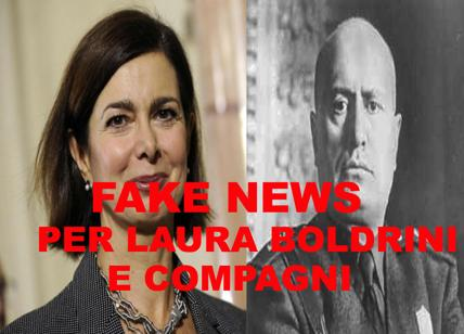 Mantova: fake news per Laura Boldrini. Cittadinanza a Mussolini mai revocata