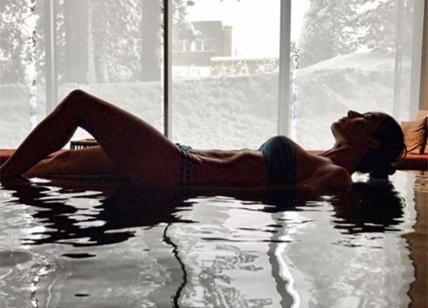 Elisabetta Gregoraci vita da single: fisico da urlo nella spa. FOTO