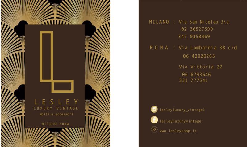 Lesley Luxury Vintage inaugura oggi a Milano Affaritaliani.it