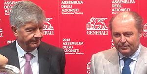 Assicurazioni Generali Ceo Philippe Donnet presidente Gabriele Galateri video