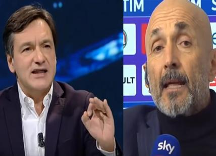 Fiorentina-Inter, Spalletti vs Caressa nel post partita su Sky. VIDEO