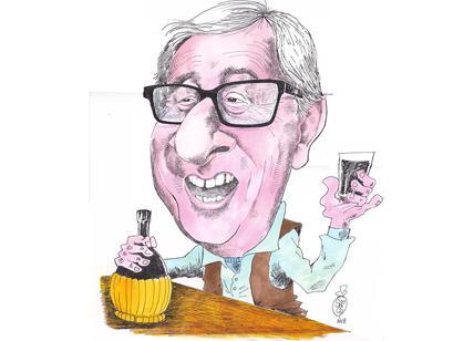 Juncker e il bicchiere, un politico alla Blade Runner. La vignetta ...