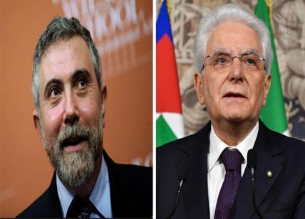 Nobel economia Krugman contro Mattarella. Preferisce l'euro alla democrazia