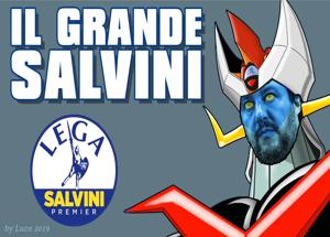 Salvini come Mazinga Virale il video tormentone