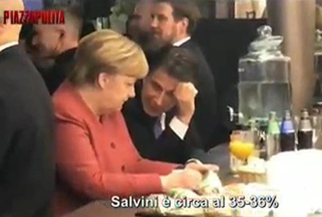 Conte-Merkel e il video