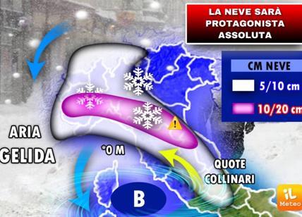 Meteo: in arrivo un'ondata di freddo e neve, le previsioni